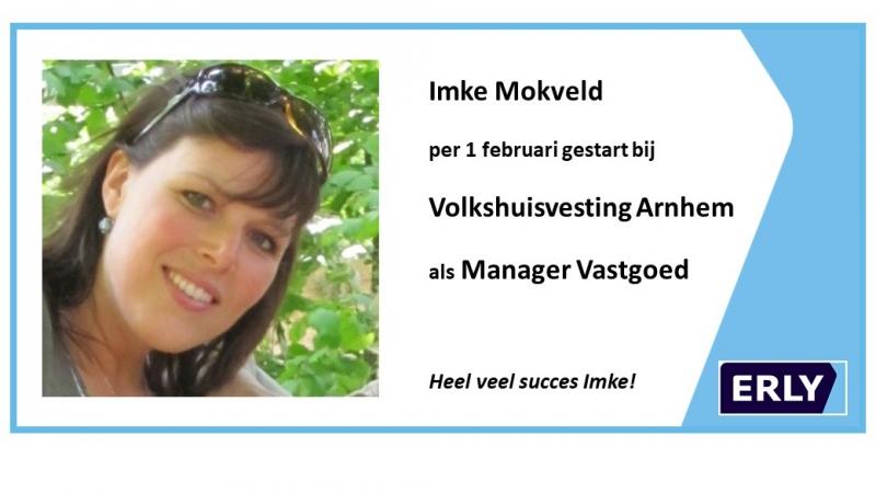 Gefeliciteerd Imke Mokveld
